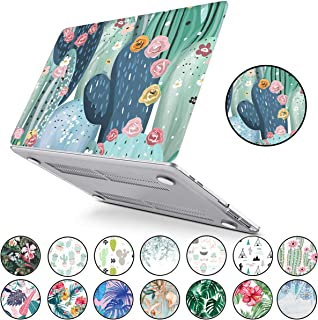 PapyHall Tropical Palm Leaves Printing Hard Plastic Case for 2012-2008 Version MacBook Pro 13 inch with CD-ROM (Non-Retina/Touch Bar) Model: A1278 Cactus Flower