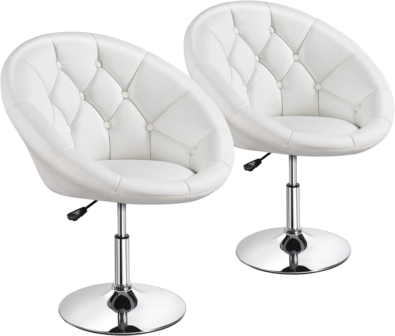 Cheap super special price Yaheetech Adjustable Modern Round Tufted Back Tilt Swivel Finally resale start Chair