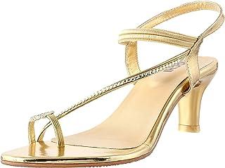 Mochi Women's Gold Fashion Sandals-5 UK (38 EU) (35-1146)