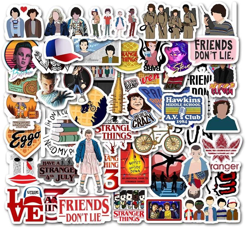 100 pi/èces Five Nights at Freddys Autocollants T/él/éphone Autocollants en Vinyle Graffiti pour Ordinateur Portable Parechocs Planche /à Roulettes Ordinateur Bouteilles deau