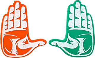 Root Sportswear University of Miami Hurricanes The U Hand Sign Foam Hands/Foam Finger