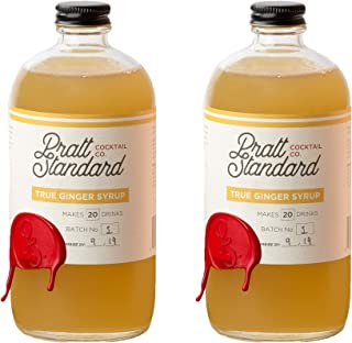 Pratt Standard Cocktail Company Old Fashioned Authentic Ginger Syrup for Cocktails, 16 Ounce, Pack of 2