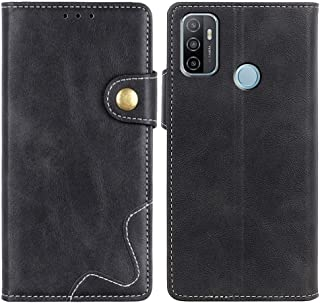 MOONCASE Oppo A53 Case, Premium PU Leather Cover Wallet Pouch Flip Case Card Slots Magnetic Closure Mobile Phone Protectiv...