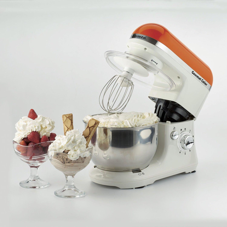 Ariete Gourmet Color 1000W 4L Naranja, Color blanco - Robot de cocina (4 L, Naranja, Blanco, Giratorio, Locked, Acero inoxidable, Acero inoxidable): Amazon.es: Hogar