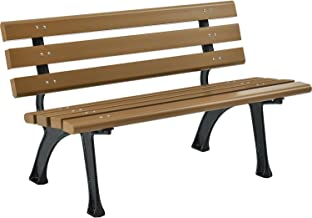 Park Bench With Backrest, 4'L, Tan