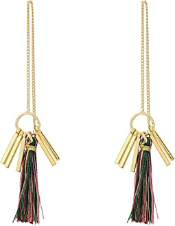 Rebecca Minkoff - Morocco Tassel Threader Earrings