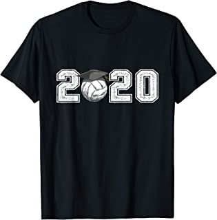 2020 Graduation Volleyball Shirt Senior High School Gifts T-Shirt