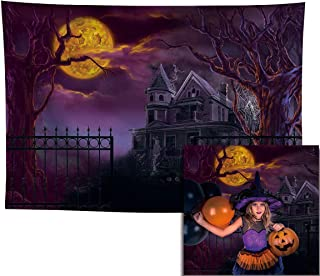 Allenjoy 7x5ft Scary Halloween Castle Backdrop for Newborn Portrait Photography Trick or Treat Birthday Party Supplies Dec...