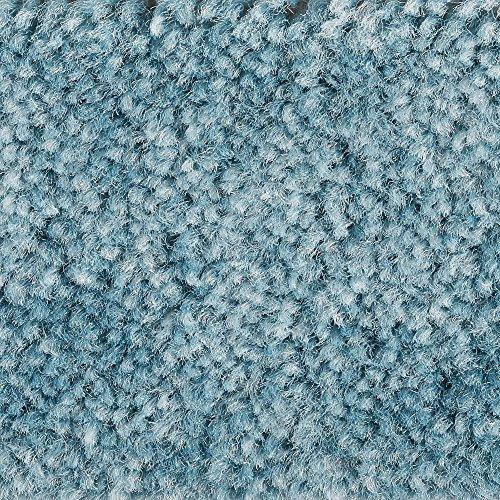 Teppichboden Auslegware Meterware Velour meliert türkis blau 400 cm und 500 cm breit, verschiedene Längen