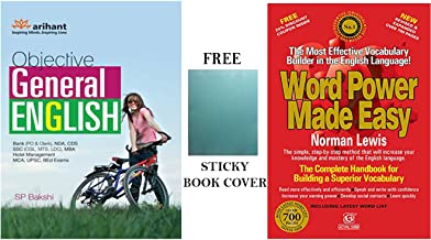 Grammar Combo - Objective General English with Word Power Made Easy with Free Sticky Book Covers by Arihant Publication & ...