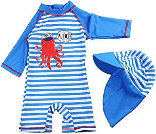 taitaibaby Baby Boy Swimsuit Toddler One Piece Rash Guard Sun Protection Swimwear Bathing Suits for Boys 6M-4T
