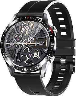PHIPUDS Smartwatch Fitness Tracker Horloge, Smart Watch Dames Heren Kinderen Pols Hartslagmeter Stappenteller Sport Activi...
