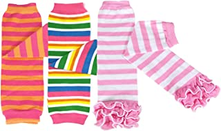 Chevron Stripes Pirates Bowbear Baby 3-Pair Leg Warmers