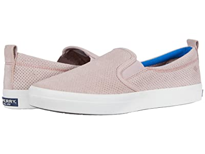 Sperry Crest Twin Gore PlushWave Pin Perf Leather (Rose Dust) Women