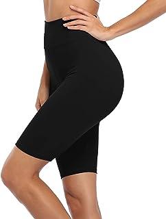 VESHINE Women's High Waist Workout Shorts/Yoga Capris Biker Yoga Running Compression Exercise Shorts Leggings
