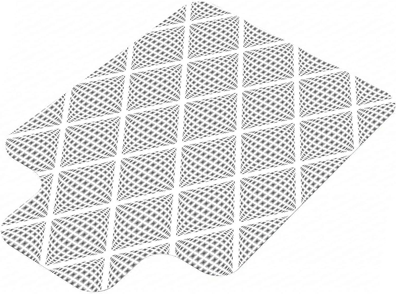 Grey Hard Floor Chair Ranking TOP1 Mat Geometric Volumetric Digital Max 78% OFF Diamond