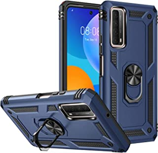 FTRONGRT Case for Motorola Moto G30, Rugged and shockproof,with mobile phone holder, Cover for Motorola Moto G30-Blue