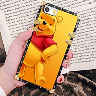 DISNEY COLLECTION iPhone 5S Square Phone Case | iPhone SE Case | iPhone 5 Case (5.5 Version) Hd Pooh Bear Wallpaper