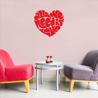 """Valentines Day Vinyl Wall Art Decal - All You Need is Love Heart Shape - 20\"""" x 23\"""" - Valentine's Home Living Room Bedroo..."""