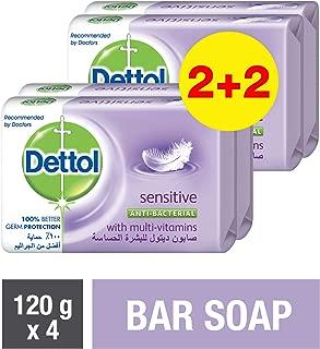 Dettol Sensitive Anti-bacterial Bar Soap 120gm (2+2)
