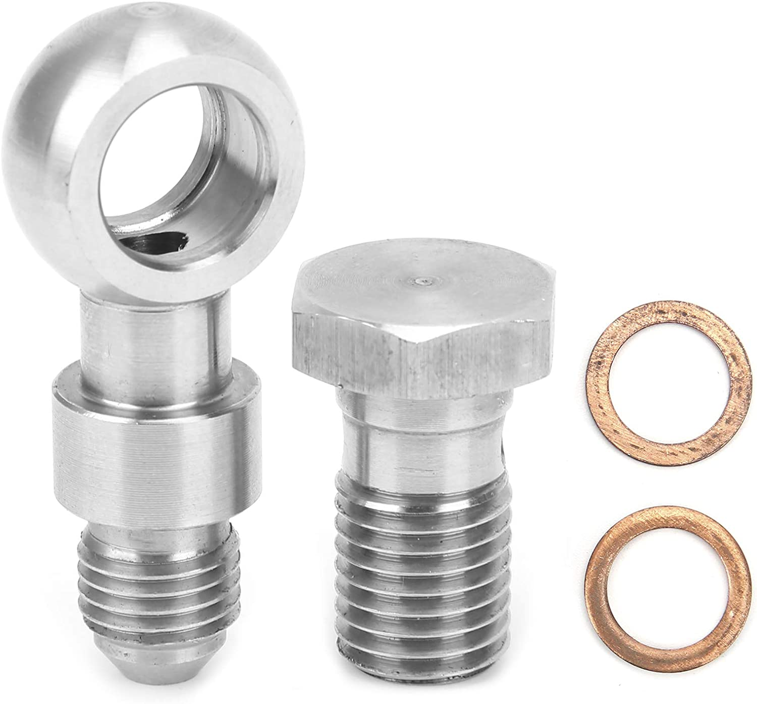 Fydun Stainless Steel Straight Philadelphia outlet Mall M12 Oil Feed to Bolt Banjo 12 mm