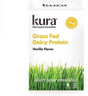 Kura Grass Fed Dairy Protein Powder, Vanilla, New Zealand Born, 10 Count Single-Serve Travel Packets