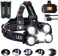 Linterna frontal LED Recargable de Trabajo, 8000 Lúmenes, 4