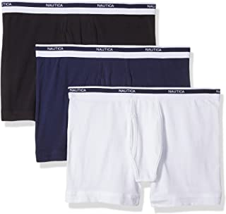 Nautica mens 3-pack Cotton Stretch Boxer Brief Boxer Briefs