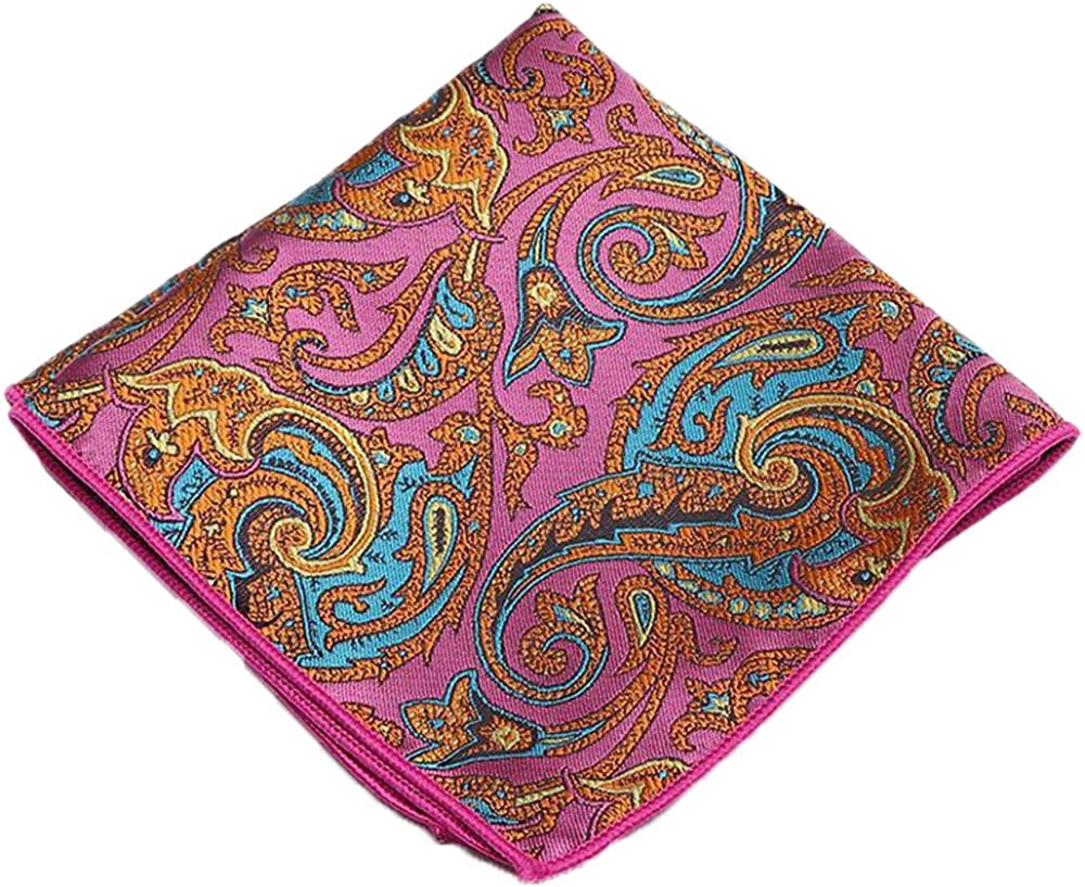 Flairs New York Paisley Collection Bow Tie & Pocket Square Matching Set