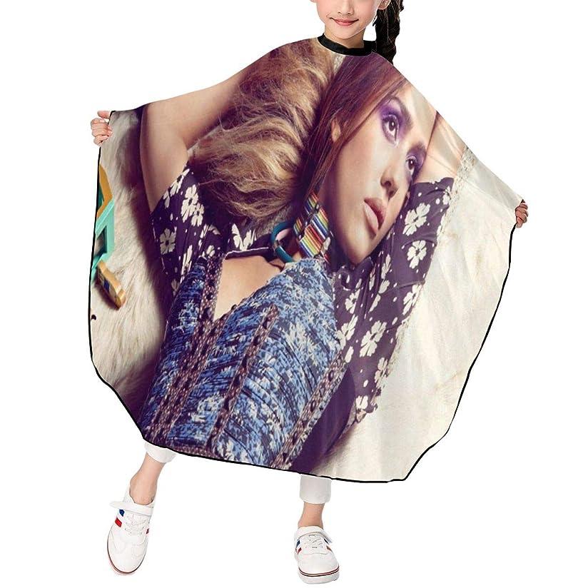 ちなみに革命望まない最新の人気ヘアカットエプロン 子供用ヘアカットエプロン120×100cm Jessica Alba 柔らかく、軽量で、繊細なポリエステル生地、肌にやさしい、ドライ