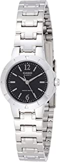 Casio Women's Black Dial Stainless Steel Band Watch