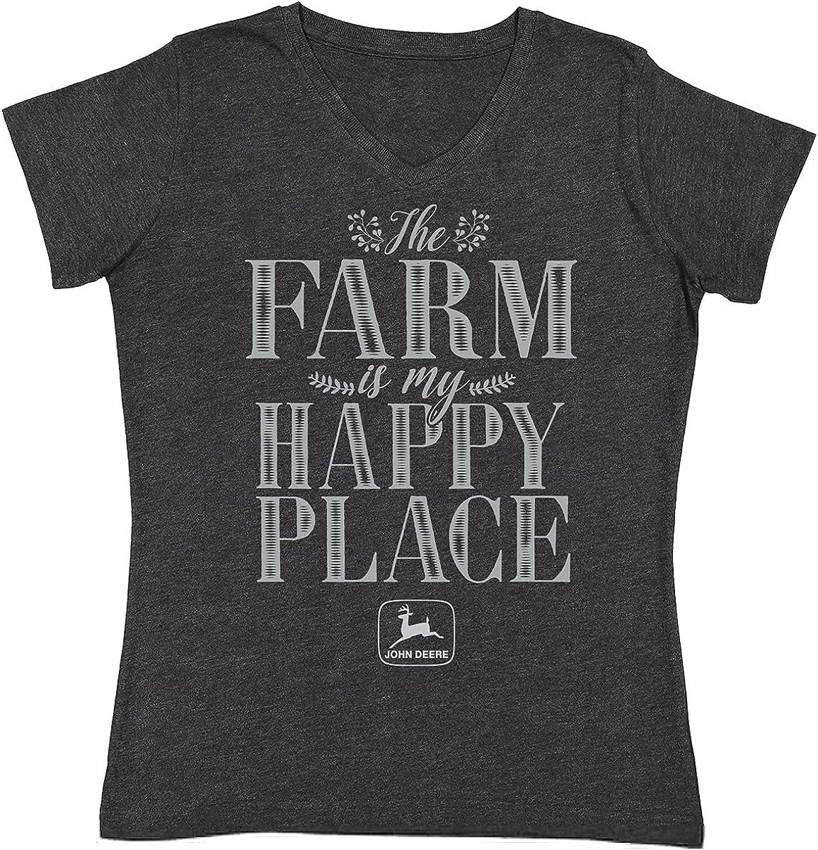 John Deere The Farm is My Happy Place Women's T-Shirt