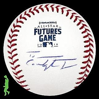 Taylor Trammell Autographed 2018 Futures Game Baseball Ball Padres Coa - JSA Certified - Autographed Baseballs