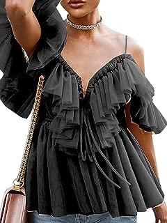 Best black tulle blouse Reviews