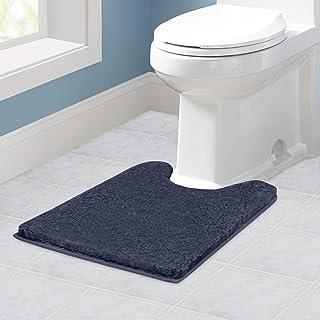 VANZAVANZU Tapis Contour WC Antidérapant Tapis de Toilette WC Épaissi Tapis WC Absorbant Tapis Salle de Bain Ultra Doux en...