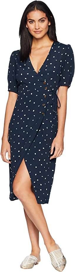 Navy/Cream Dot
