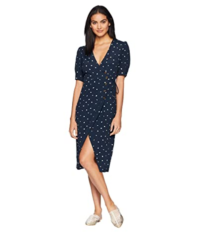 ASTR the Label La Cienega Dress (Navy/Cream Dot) Women