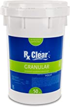 Rx Clear Stabilized Granular Chlorine | One 50-Pound Bucket | Use As Bactericide, Algaecide, and Disinfectant in Swimming Pools and Spas | Slow Dissolving and UV Protected