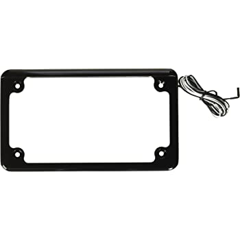 Custom Dynamics LPF-HRZ-B-LP License Plate Frame (Flat-Style Black )