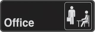 """Hillman 841754 Black and White Plastic Self-Adhesive Office Sign (3"""" x 9"""")"""