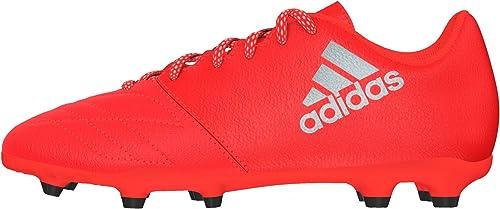 Adidas X 16.3 FG J Leather, Chaussures de Football Garçon