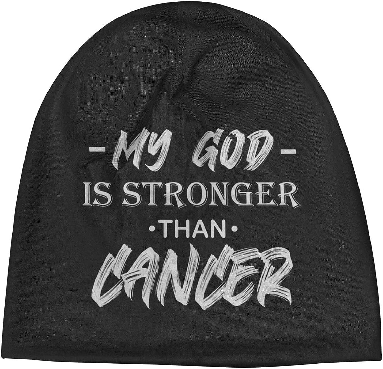 My God is Stronger 5 popular Then Cancer2 Cap Ha Slogan Unisex excellence Warm Beanie