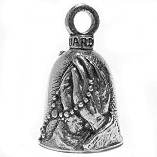 Guardian® Praying Hands with Rosary and Holy Cross Motorcycle Biker Luck Gremlin Riding Bell