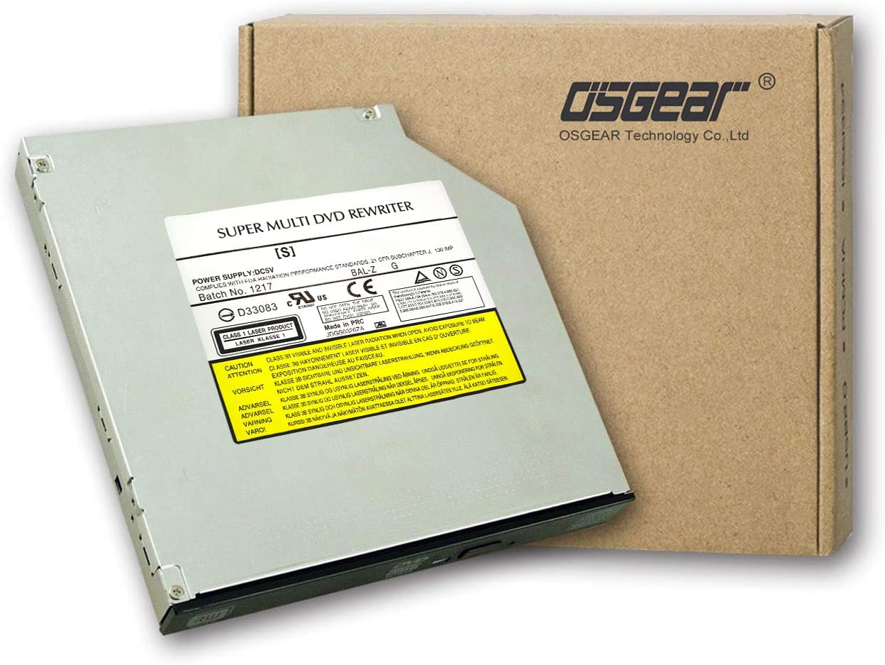 OSGEAR Internal Thick 12.7mm SATA 8X Burner DVD DVDRW ROM CD Easy-to-use RW Directly managed store