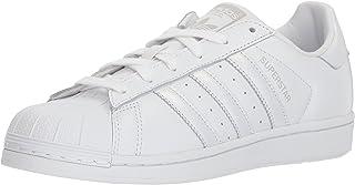 adidas Originals Women's Superstar Sneaker, White/Gray, 7