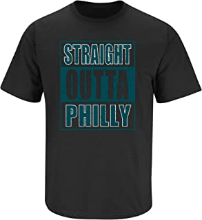Philadelphia Football Fans. Straight Outta Philly Black T-Shirt (Sm-5X)