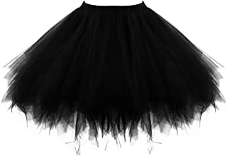 Honeystore Women's Short Vintage Ballet Bubble Puffy Tutu Petticoat Skirt