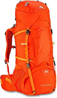 High Sierra Explorer 55L Internal Frame Backpack, Top Load 55 Liter Hiking Backpack, Perfect for Backpacking, Hiking, Trekking and Camping