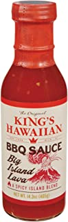 King's Hawaiian BBQ Sauce - Big Island Lava 15 oz (Pack of 3)