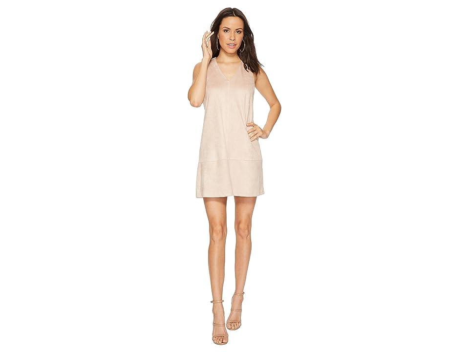 Bishop + Young Faux Suede Shift Dress (Pink) Women